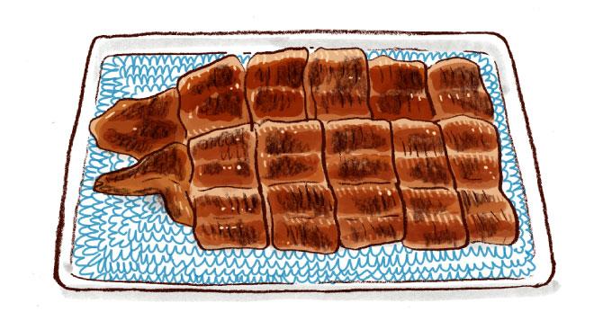 井倉木材のうなぎの蒲焼